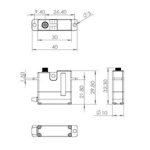 servos digital servo mks hv 6130h digital servo stehende montage. Black Bedroom Furniture Sets. Home Design Ideas