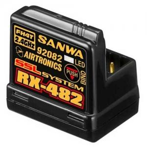 Empfänger Sanwa RX 482 FHSS-3,FHSS-4 integrierte Antenne 2,4 GHz